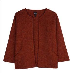 Eileen Fisher Felted Alpaca Wool Mélange Jacket